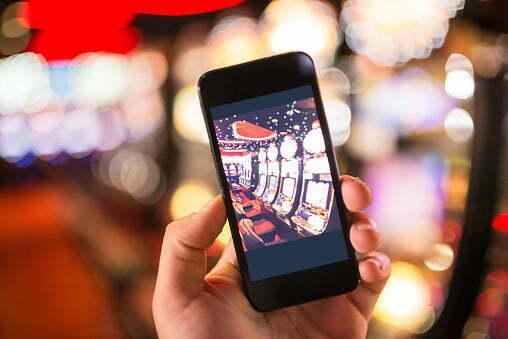 smartphone against a bokeh lights