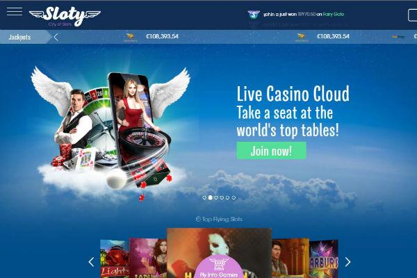 Sloty Live Casino NZ