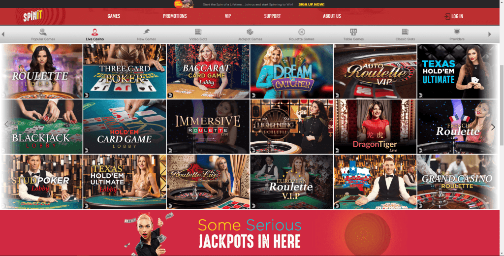 Spinit Live Casino NZ