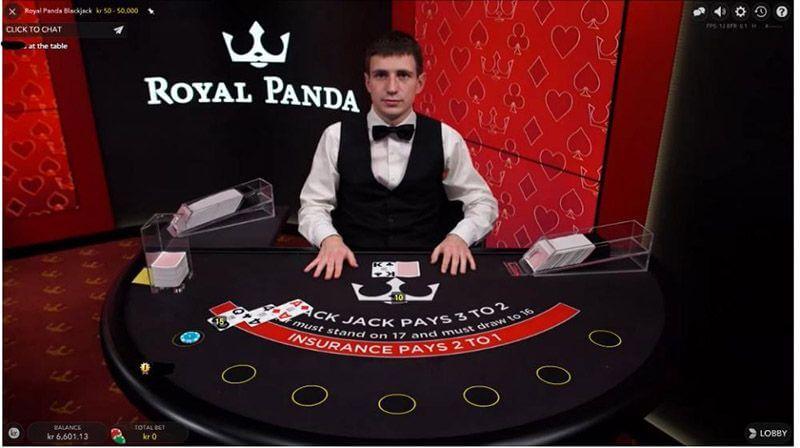 Royal Panda Live Casino Blackjack
