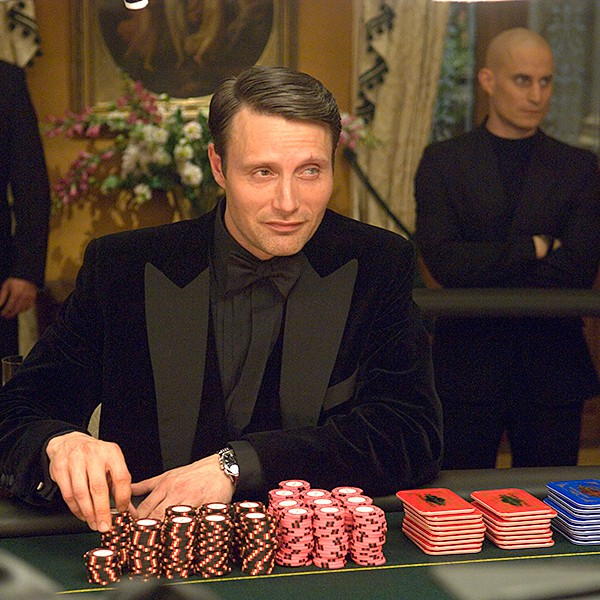 mads mikkelsen playing poker in the famous casino royal