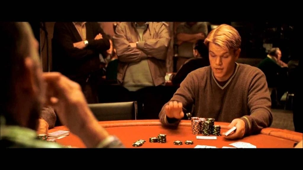 matt damon playing poker