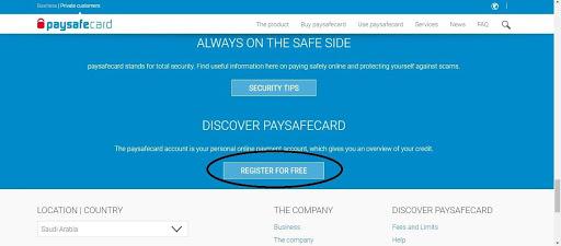 Paysafecard registration